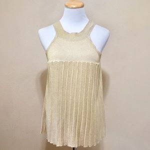 XOXO Gold High Neck Swing Tank Top L